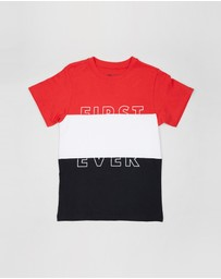 First Ever Kids - Colour Blocked T-Shirt - Teen