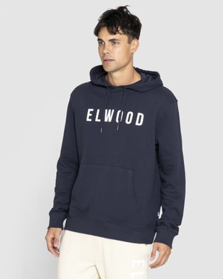 Elwood Mens Huff N Puff Hood - Sweats & Hoodies (Dark Navy)