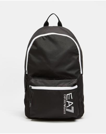 Emporio Armani Ea7 Train Core Backpack Black & White Detail