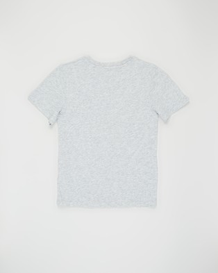 Calvin Klein Jeans Monogram Logo T Shirt   Teens - T-Shirts & Singlets (Light Grey Heather)