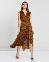 Atmos&Here - Tully Wrap Cowl Back Dress