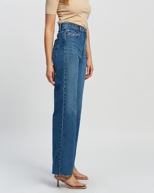 Nobody Denim Milla Long Jeans - High-Waisted (Distant)