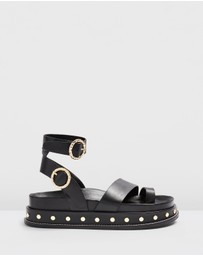 TOPSHOP - Fawn Footbed Sandals