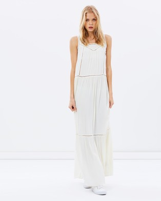 Maison Scotch – Maxi Dress with Mesh Details – Dresses (Colour 03)