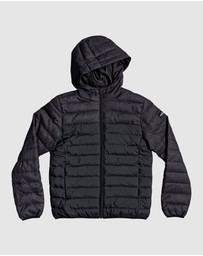 Quiksilver - Boys 8-16 Scaly Mix Hooded Puffer Jacket