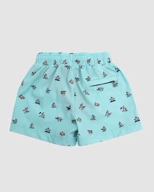Mosmann Rocket Swim Shorts   Kids - Swimwear (Blue Green)