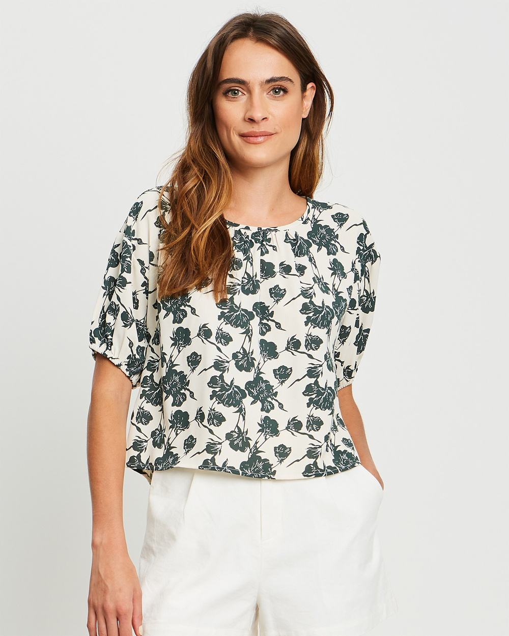 The Fated - Bisou Blouse - Tops (Floral Print) Bisou Blouse