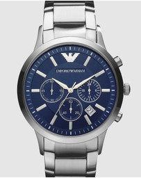 Emporio Armani - Silver-Tone Men's Analogue Watch