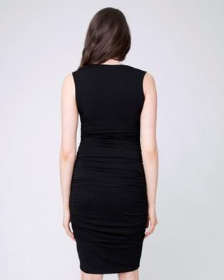 Ripe Maternity Cocoon Tank Dress - Dresses (Black)