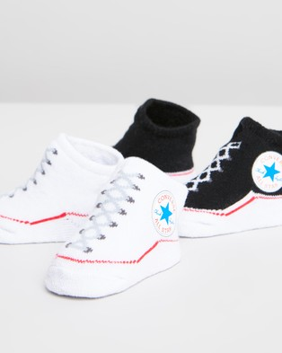 Converse 2 Pack Chuck Booties   Babies - Socks (Black & White)