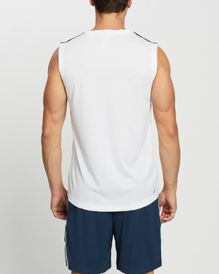 adidas Performance AEROREADY Designed To Move 3 Stripes Sport Tank - Muscle Tops (White)
