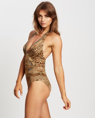 Camilla Halter One Piece With Gathering - One-Piece / Swimsuit (Lady Lodge)