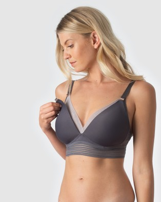 Projectme Intimates Ambition Triangle Contour Nursing Bra   Wirefree - Underwire Bras (Grey)