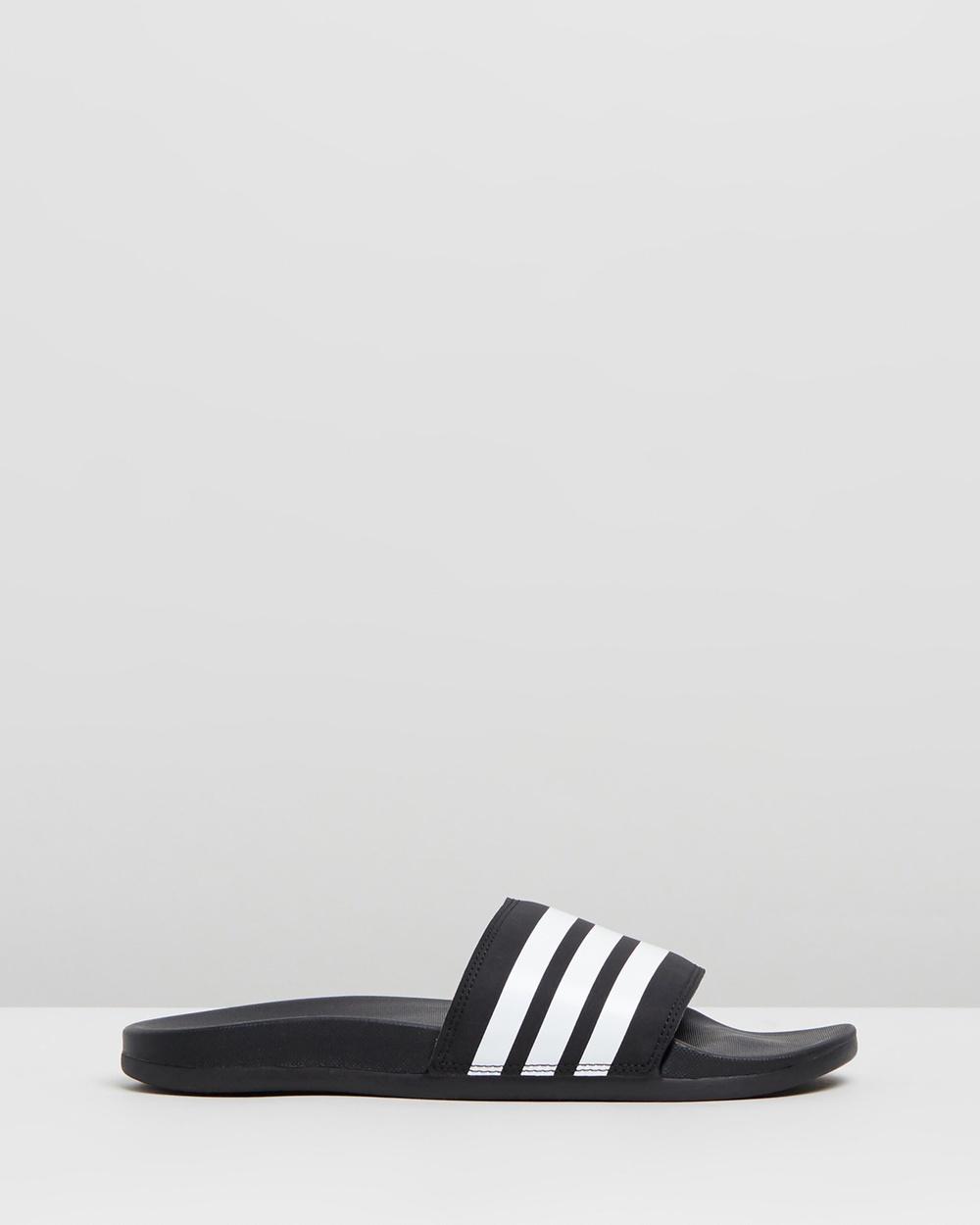 adidas Performance Adilette Comfort Slides Women's Sandals Core Black & White