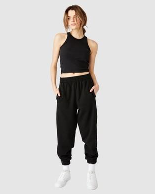 Factorie Super Slouchy Trackpants - Sweatpants (Black)