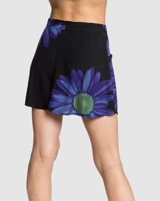 Quiksilver Quiksilver Womens Originals Printed Floaty Short - Chino Shorts (NEBULAS BLUE DAZEY)