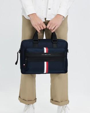 Tommy Hilfiger - Elevated Nylon Computer Bag - Bags (Desert Sky) Elevated Nylon Computer Bag