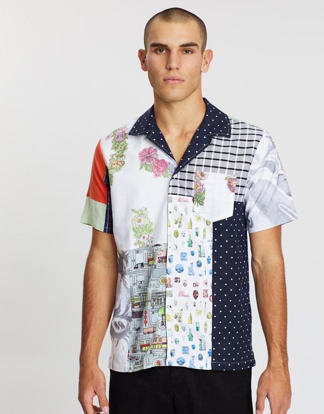 Soulland - Over/Out Jorge Upcycled Patchwork Shirt