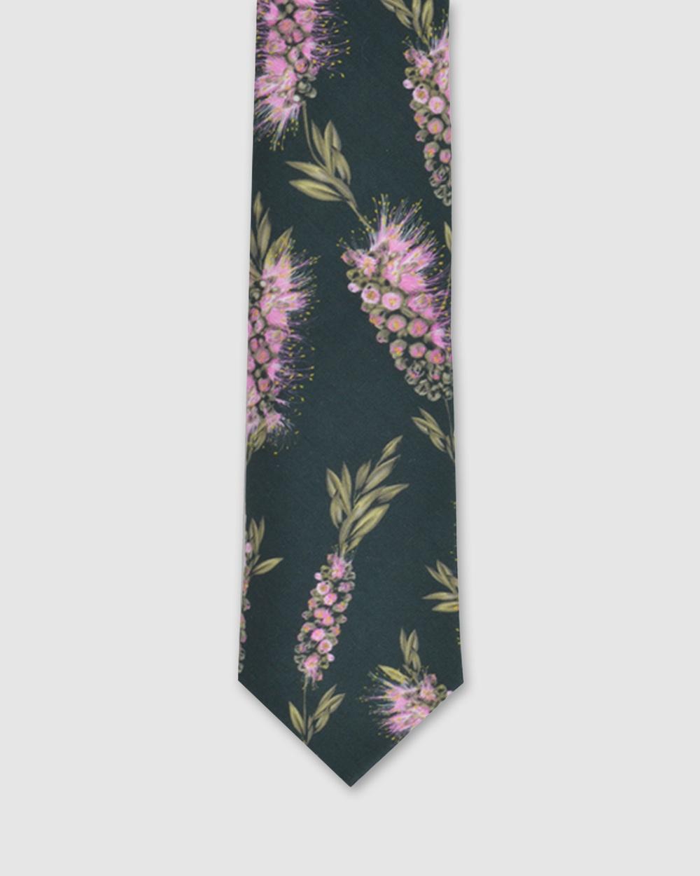 Peggy and Finn Bottlebrush Tie Ties Green