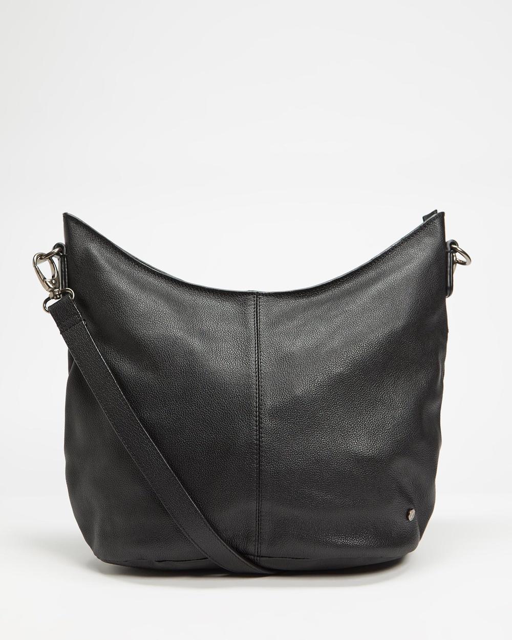 Stitch & Hide Frankie Hobo Bag Handbags Black Australia
