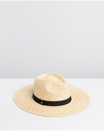 Ace Of Something - Rhea Straw Wide Brim Fedora