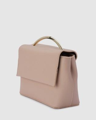 Olga Berg Clarissa Shoulder Bag With Top Handle - Clutches (Blush)