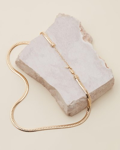 Camail Gold Snake Chain Necklace