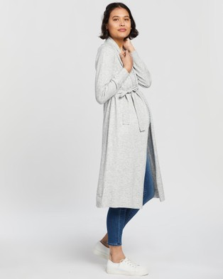 Angel Maternity - Long Cardigan Jumpers & Cardigans (Grey)