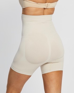 Celle FibreCel?äó Cellulite Reducing Shapewear Shorts - Compression (Beige)