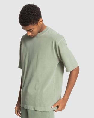 Quiksilver Mens General Echo Organic T Shirt - T-Shirts & Singlets (BLUE SPRUCE)