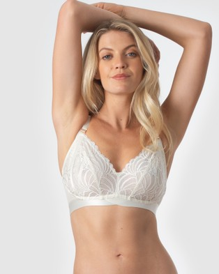 Projectme Intimates Warrior Soft Cup Nursing Bra - Underwire Bras (Ivory)