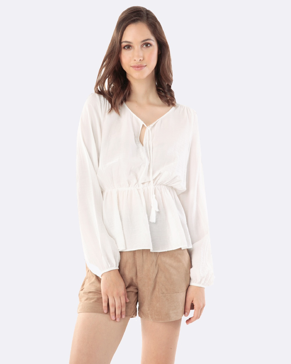 Amelius Penny Blouse Tops White Penny Blouse