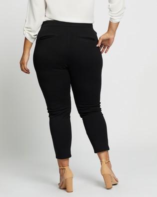 Atmos&Here Curvy Zeina Zip Front Pont Pants - Pants (Black)