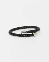 Ted Baker - Bassett Leather Braid Bangle