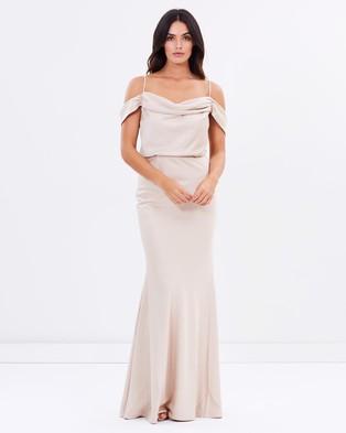 Grace & Hart – Winter Rose Drape Gown – Bridesmaid Dresses (Nude)