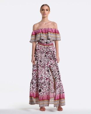 Coco Ribbon – Aurora Maxi Dress Rose
