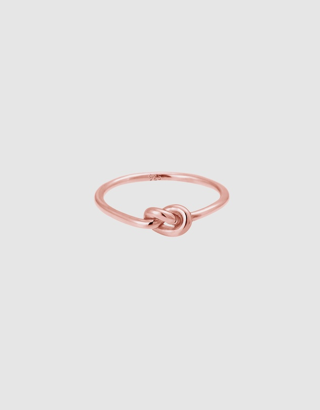 Elli Jewelry - Ring Trend Knot 925 Sterling Silver Rose Gold-Plated