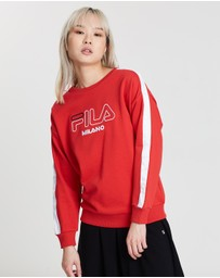 White Line Snap Sweatshirt