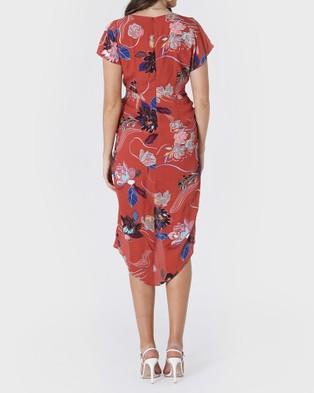 Amelius Desert Merlot Dress - Printed Dresses (Multi)