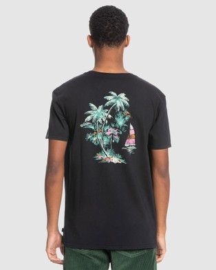 Quiksilver - Mens Smooth Sailin Organic T Shirt - T-Shirts & Singlets (Black) Mens Smooth Sailin Organic T-Shirt