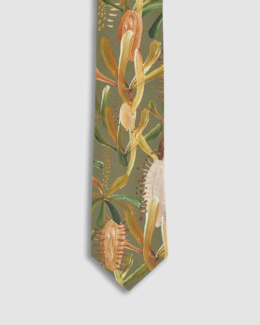 Peggy and Finn Grass Tree Tie Ties Sage Australia