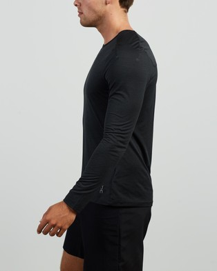 On Running Performance T LS Tee - Long Sleeve T-Shirts (Black)