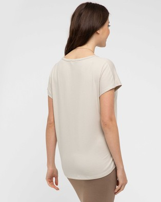 Bamboo Body Eadie Relaxed Tee - T-Shirts & Singlets (Bone)