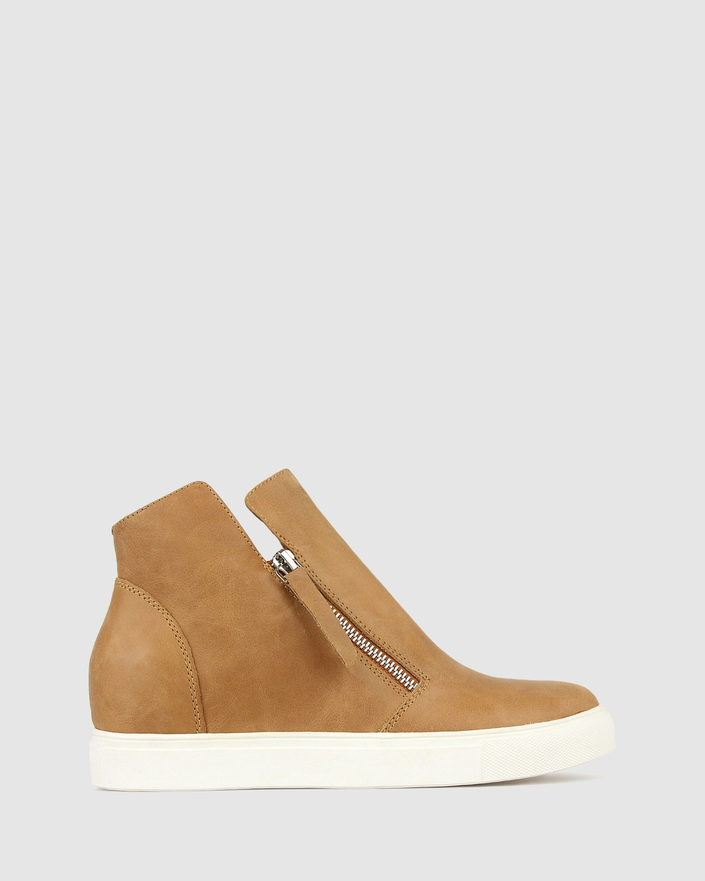 Airflex Stunner Leather Ankle Boots Tan