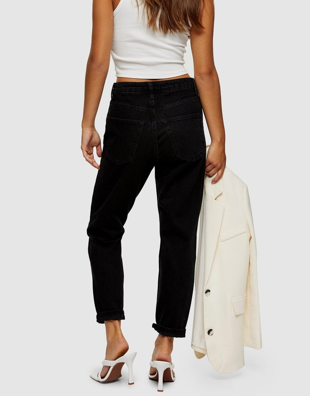 Women Mom Tapered Jeans