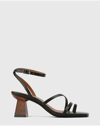 Wittner - Kaiya Leather Strappy Sculptured Heel Sandals