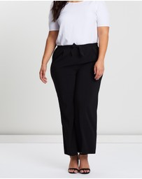 EVANS - Satin Ripple Wide-Leg Trousers