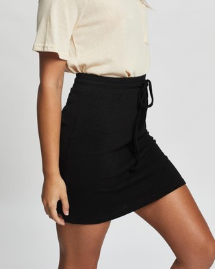 Atmos&Here Livvy Mini Skirt Skirts Black