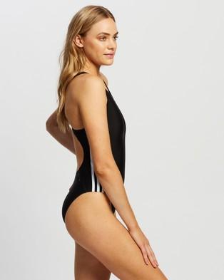 adidas Swim Athly V 3 Stripes Swimsuit - One-Piece / Swimsuit (Black & White)