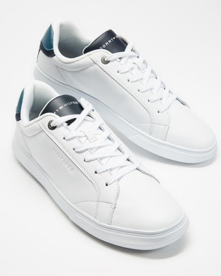 Tommy Hilfiger Essential Leather Cupsole Sneakers - Sneakers (Charcoal Blue)